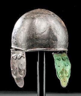 Celto-Romano Montefortino Bronze Helmet  Braided Design