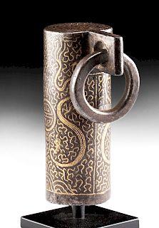 16th C. Tibetan Gilded Iron Finial from Buddhist Staff