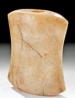 Archaic Native American Quartz Hourglass Bannerstone
