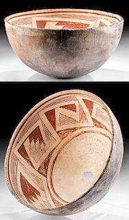 Anasazi Mogollon Mimbres Pottery Bowl w/ Kill Hole
