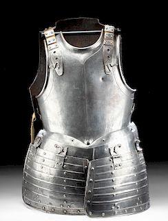 17th C. Western European Steel Pikeman's Cuirass