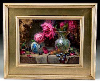 """Jeff Legg Oil Painting, """"Jan's Roses"""" (2009)"""