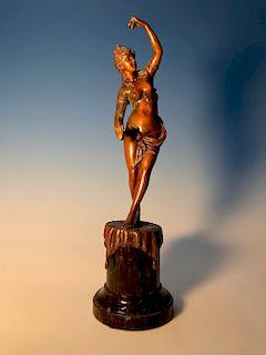 Austrian Patinated Bronze Orientalist Dancer