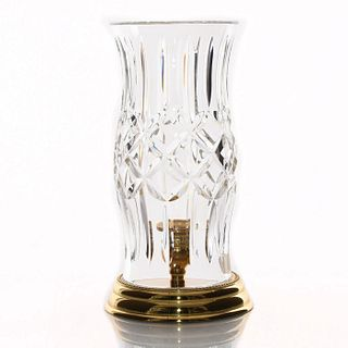 WATERFORD PRESCOTT HURRICANE LAMP WITH BRASS BASE