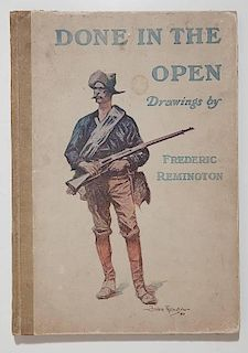 Done In The Open, Drawings by Frederic Remington