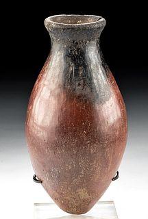 Egyptian Predynastic Naqada II Blacktop Acorn Jar