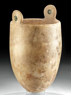 Published Egyptian Alabaster Situla, Rare Size