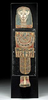 Romano-Egyptian Cartonnage Ensemble for a Child