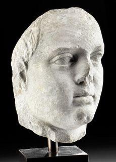 Greek Ptolemaic Marble Head - A Ptolemy, ex-Bonhams