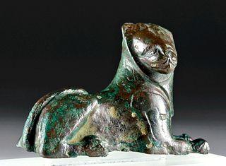 Greek Archaic Bronze Lion, ex-Leo Mildenberg