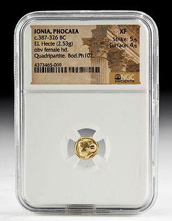 Greek Ionian Electrum Hecte, NGC Slab