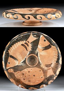 Campanian Red-Figure Fish Plate, ex-Sotheby's, Art Loss