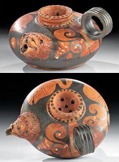 Greek Apulian Guttus Lion Head Spout, ex-Christie's