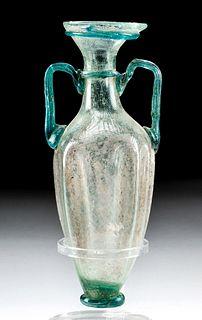 Fine Roman Glass Amphoriskos w/ Trail Handles