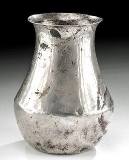 Delicate Roman Silver Beaker / Wine Vessel