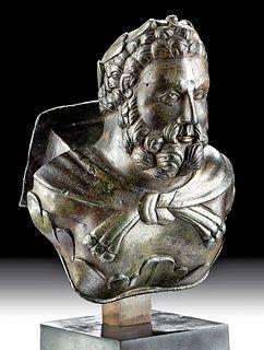 Roman Bronze Carriage Attachment - Hercules