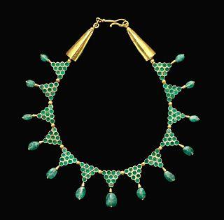 Byzantine 20K+ Gold & Emerald Necklace, ex-Christie's