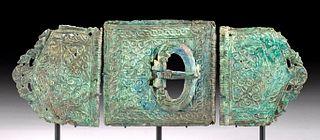 Stunning Byzantine Bronze Belt Buckle (3 pcs)