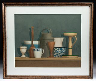 William Bailey Painting Still Life 1983, ex-Christie's