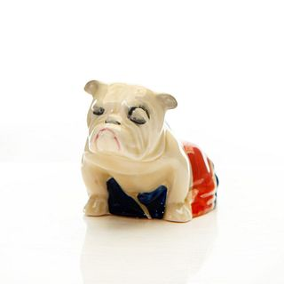 SM ROYAL DOULTON ANIMAL FIGURE, BULLDOG IN UNION JACK