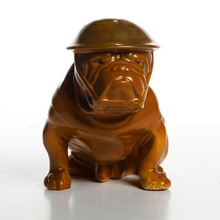 ROYAL DOULTON KHAKI LG ARMY BULLDOG FIGURE