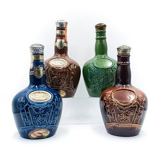 4 ENGLISH CERAMIC CHIVAS BROTHERS LIQUOR BOTTLES