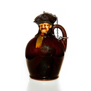 ROYAL DOULTON KINGSWARE NIGHT WATCHMAN WHISKY FLASK