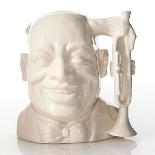 LG DOULTON UNDECORATED CHARACTER JUG, LOUIS ARMSTRONG