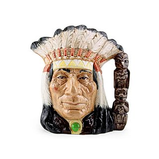 NORTH AMERICAN INDIAN D6611 - LARGE - ROYAL DOULTON CHARACTER JUG