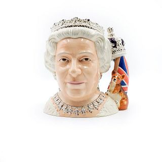 QUEEN ELIZABETH II - LARGE - ROYAL DOULTON CHARACTER JUG