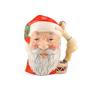 SANTA CLAUS DOLL ON DRUM D6668 - LARGE - ROYAL DOULTON CHARACTER JUG