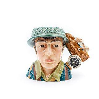 WORLD WAR II D7268 - LARGE - ROYAL DOULTON CHARACTER JUG