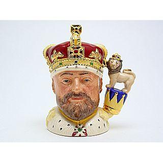 KING EDWARD VII D6923 - SMALL - ROYAL DOULTON CHARACTER JUG