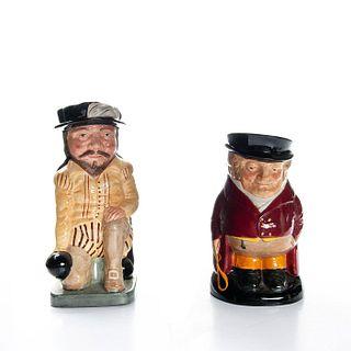 2 DOULTON TOBY JUGS, SIR FRANCIS DRAKE, THE HUNTSMAN