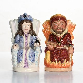 MED ROYAL DOULTON TOBY CHARACTER JUGS, FIRE AND ICE