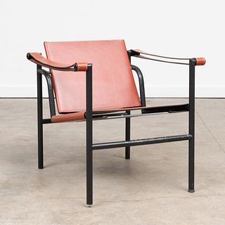 Le Corbusier Chrome and Leather Basculant Sling 'LC1' Chair