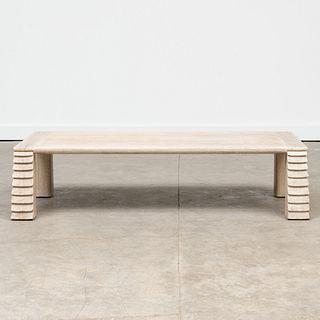 Cerused Oak Coffee Table, After Jean-Michel Frank