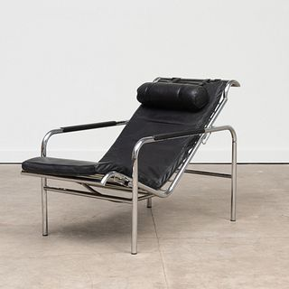 Gabriele Mucchi Chrome and Leather 'Genni' Chaise