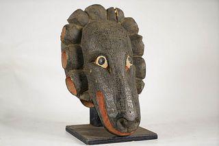Yoruba Gelede Style Zoomorphic Mask