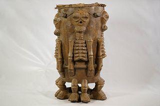 Tiv Skeleton Drum