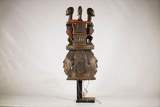 Igbo or Idoma Janus Headcrest Mask