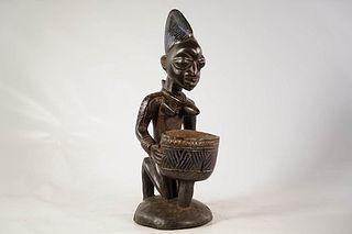 Yoruba 'Cup Bearer' Offering Bowl
