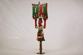 Colorful Yoruba Shango Figure
