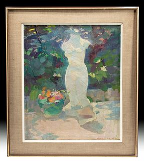 Exhibited, Signed, Framed Hensche Painting, 1950s