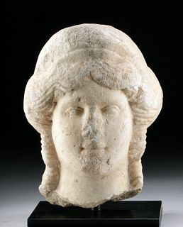 Beautiful Roman Marble Janus-Headed Goddess