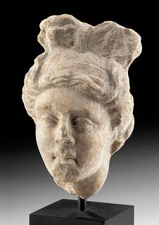 Graceful Roman Marble Bust of Apollo