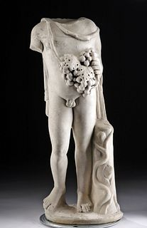 Roman Imperial Marble Figure of Bacchus Wearing Nebris