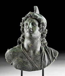 Roman Bronze Bust of a Warrior or Young Mars
