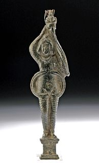 Roman Bronze Figural Latch Depicting Attis