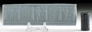 Translated Babylonian Hematite Cuneiform Cylinder Seal